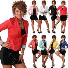 B101 Blazer 3/4 Streifen Ärmel Jacke Business Büro Jäckchen Party Freizeit Neu