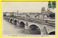 cpa ORLÉANS (Loiret) Vue Générale CRUE de la LOIRE 13 Octobre 1907 Pas Courante