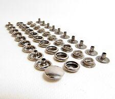 Snap Fasteners, Stainless Steel, 80 Piece Set, Marine Grade Snaps