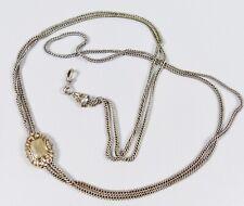 Molto Vecchio lungo Uhrkette di Argento (da6029)