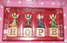 "ST. NICHOLAS SQUARE "" HOPE "" BLOCK SET Angels TOWER SENTIMENT 3.5"" Christmas NEW"