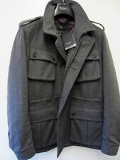 Woolen Waist Length Regular Size Peacoat for Men