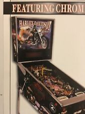 HARLEY DAVIDSON 2nd  EDITION STERN 2001 PINBALL PROMO BROCHURE IN PLASTIC COVER