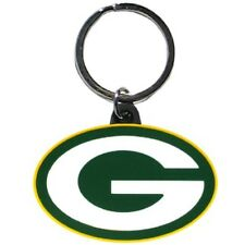 GREEN BAY PACKERS RUBBER-LIKE FLEXIBLE KEY RING WITH FULL-COLOR OVAL G LOGO