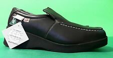 HUSH PUPPIES, WOMEN'S WORK & SAFETY LADIES SHOES BLACK LEATHER CSA