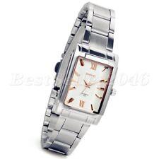 Fashion Women's Square Watches Stainless Steel Sport Analog Quartz Wrist Watch