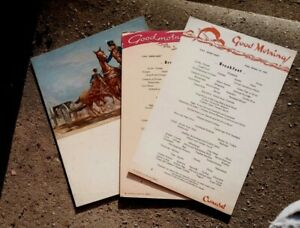 Three Oct 1955 Cunard RMS Queen Mary Menus - Two Breakfast & Dinner
