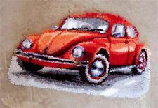 """Vervaco Knüpfteppich """" Rotes Auto VW-Käfer """"  PN-0147487"""
