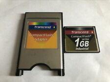 Transcend 1GB INDUSTRIAL Compact Flash +ATA PC card PCMCIA Adapter