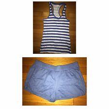Small s secret blue pajamas set tank shorts