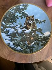 Winter Vigil collector plate Great Horned Owl Seerey-Lester Noble Owls