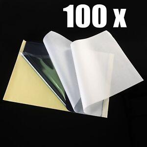 100 x Matrizenpapier Tattoo Papier Tattoopapier Transferpapier Tätowierung