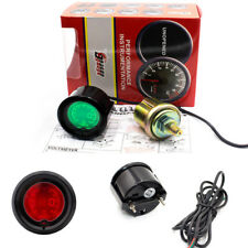 "Racing Car 2""/52mm Metal Oil Preesure Gauge Meter Digital 7 Colors LED Display"