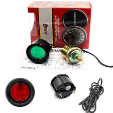 "Racing Car 2""/52mm Metal Oil Preesure Gauge Meter Digital 7 Colors LED Display"
