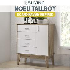 Nobu Tallboy Chest of Drawer w/ Door Adjustable Storage Shelf Bedroom cabinet