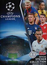 topps official Sticker Collection Album UEFA CL 2016/17 mit 12 Stickern
