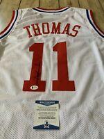 Isiah Thomas Autographed/Signed Jersey JSA COA Indiana Hoosiers