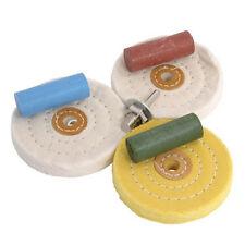 7pc Metal Limpieza Y Pulido fregona Rueda Kit & compuesto de bloques de ajuste de perforación