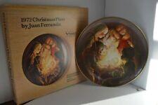 Vintage Ferrandiz Christmas Plate 1972 Wood Anri Nativity in box