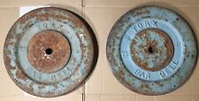 "vtg YORK 75 POUND LB WEIGHT PLATES FOR 1"" BARS BARBELL"