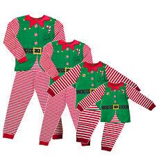 Christmas Squad Elf Festive Xmas Pyjamas PJ Set Family Mum Dad Kids Elves