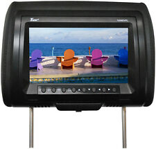 """Tview T939DVPLBK 9"""" Headrest Monitor With Dvd Player Sold In Pairs Black"""