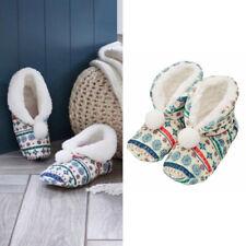 AVON Ladies Womens Christmas Xmas Festive Nordic Noel Slippers Socks Boots