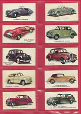 KELLOGG LTD. -  RARE PART SET OF 39 / 40 MOTOR CARS ( COLOURED )  CARDS  -  1949