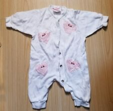 Rare 1 piece w/pink embroidered heart & flower sz 6 months by Royal Cuteness