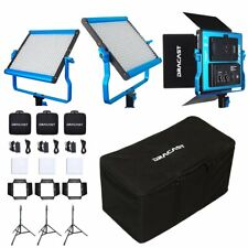 Dracast S-Series LED500 Bi-Color 3 Light Kit with V-Mount Battery Plates and ...