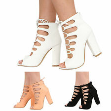 Women's High Heel (3-4.5 in.) Faux Suede Lace-up Shoes