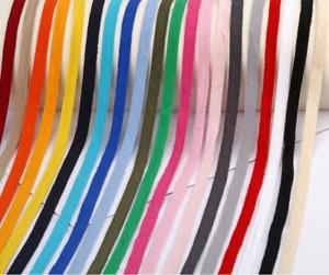 Colours Cotton ribbon Tape 10mm wide Various colours Chevron Herringbone metre