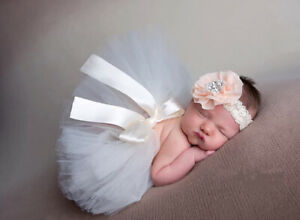 Newborn Baby Crochet Knitted Tutu Skirt Costume Photography Prop Outfits 1 month