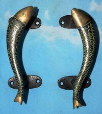 Brass Antique Style Fish Shape Door Handle Restaurant Bar Door Pull Handle MJ167