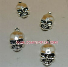 P1029B 50pc Tibetan Silver SKULL Charm Beads Pendant accessories wholesale