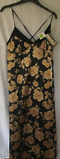M&S Autograph Ladies Black with Gold Flowers Nightdress, size 12