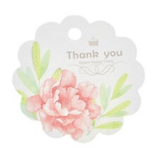 50 pcs Thank You Light Pink Flower Tags Scrapbooking Decoration Tags for Wedding