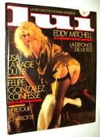 CURIOSA LUI N° 265 1986 EDDY MITCHELL 1ère SÉANCE ÉROTIQUE PIN-UP SENSUALITÉ