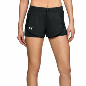 Under Armour UA HeatGear Define The Run 2 In 1 Ladies Black Running Shorts XS