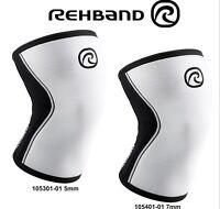 Rehband RX Kniebandage CrossFit Gewichtheben 105301-01 5mm 105401-01 7mm Weiß