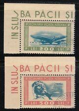 Romania 1946 CTO NH Mi 998-999 Sc C24-C25 Aviator and planes RARE as used set