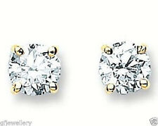 18CT HALLMARKED YELLOW GOLD 1.00CT G/H SI1 DIAMOND SOLITAIRE STUD EARRINGS
