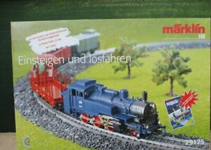 Marklin 29175 train set with steam engine, 4 coaches, track and transformer