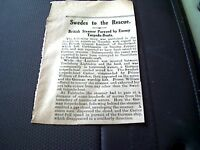 67-8  ephemera 1916 article ww1 british steamer lambert pursued by torpedo boats