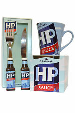 HP Sauce Official Merchandise Collectors Cutlery Knife and Fork collectors Mug