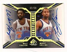 2007/8 Upper Deck Dual Auto HOF Frazier/Collins New York Knicks #32/50