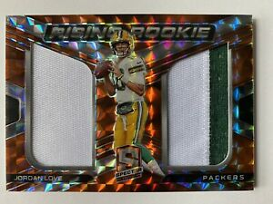 2020 Spectra Jordan Love Rising Rookie Dual Patch Neon Orange Prizm *1/10 RC🔥🔥