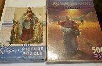 Religous themed puzzles Tuco  Jesus The Good Shepherd 1961 and The Prodigal