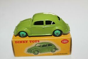 Dinky Toys 181 Volkswagen Beetle. Lime Green