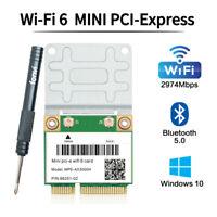 3000Mbps Wifi 6 Card Dual Band Bluetooth 5.0 WiFi Mini PCI-E Card for Windows 10
